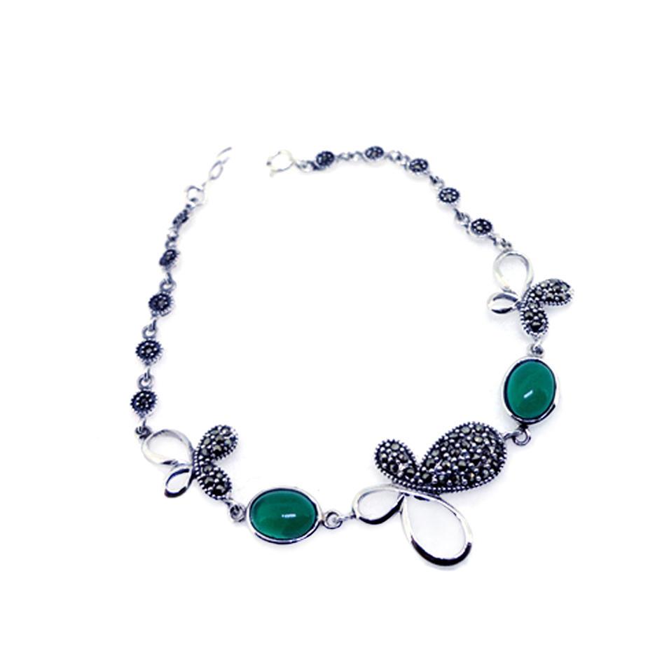 Factory direct wholesale fashion jewelry jade stone bracelet