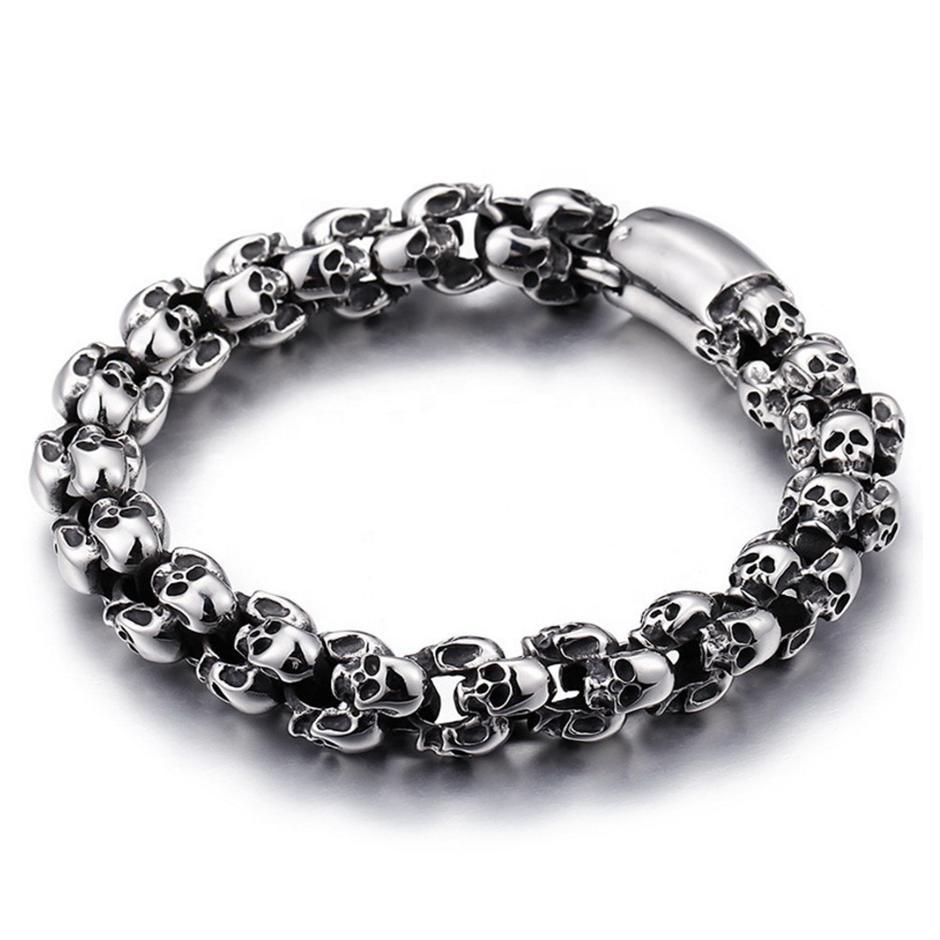 Wholesale cheap silver black european bead bracelet