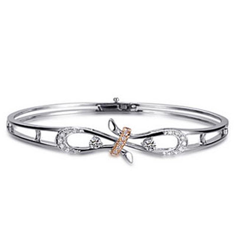 Girls' New Silver Cz Crown Korean Fashion Bangles Bracelet