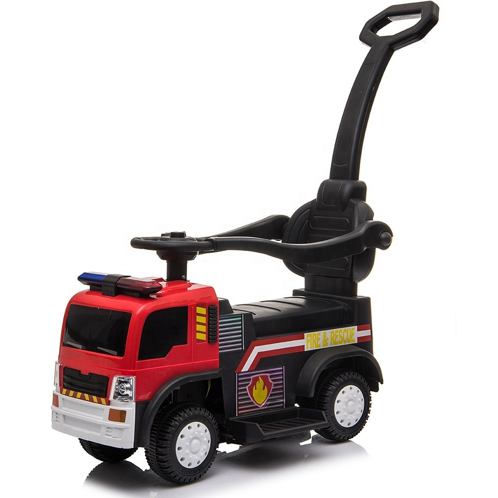 Children remote ride on car kids fire truck push ride on toy car