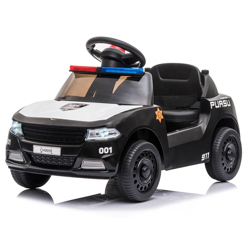 2020 electric cars for kids to drive ride on police car with push bar