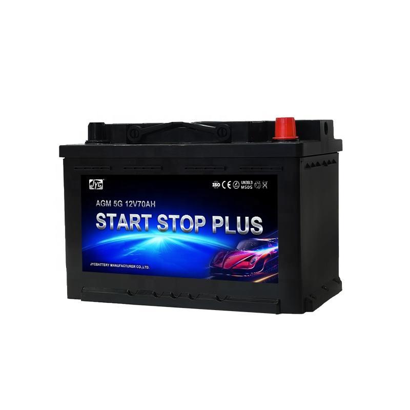 2021 Hot sale car battery brands 12v 70ah AGM Start-Stop Battery