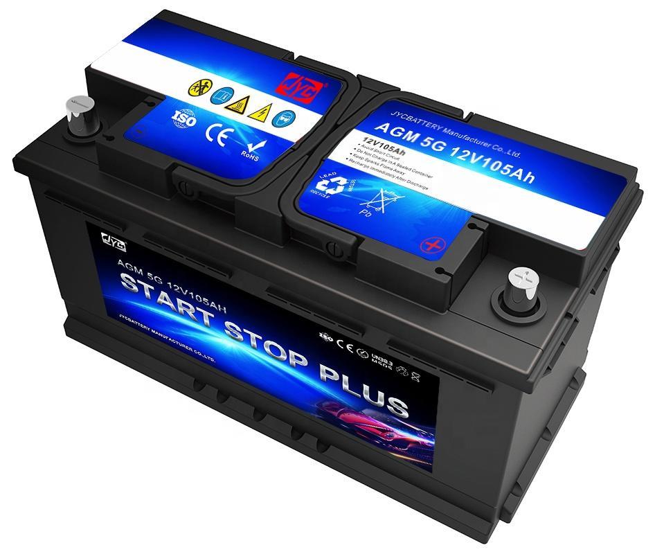 Deep Cycle maintenance free 12v 105ah AGM Start-Stop Battery
