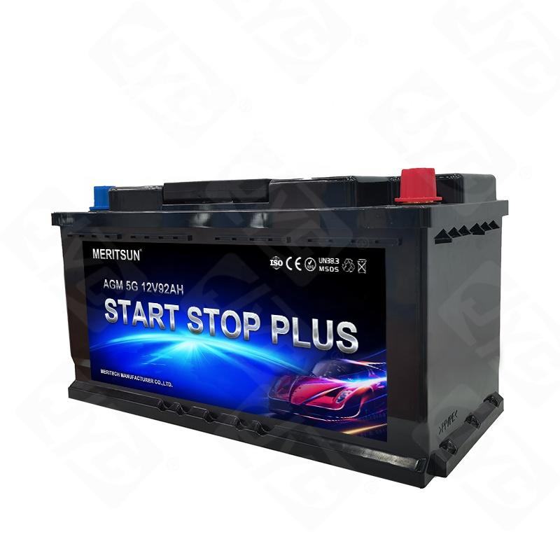 AGM Car Battery Start Stop Battery Voltage 12V Capacity 92AH Start-Stop AGM Car Battery
