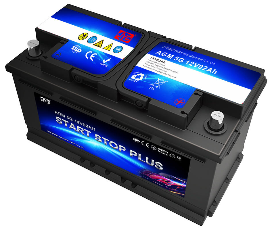 High QualityStart Stop Battery 12V 92ah Car Battery AGM AUTO Deep Cycle Rechargeable Battery