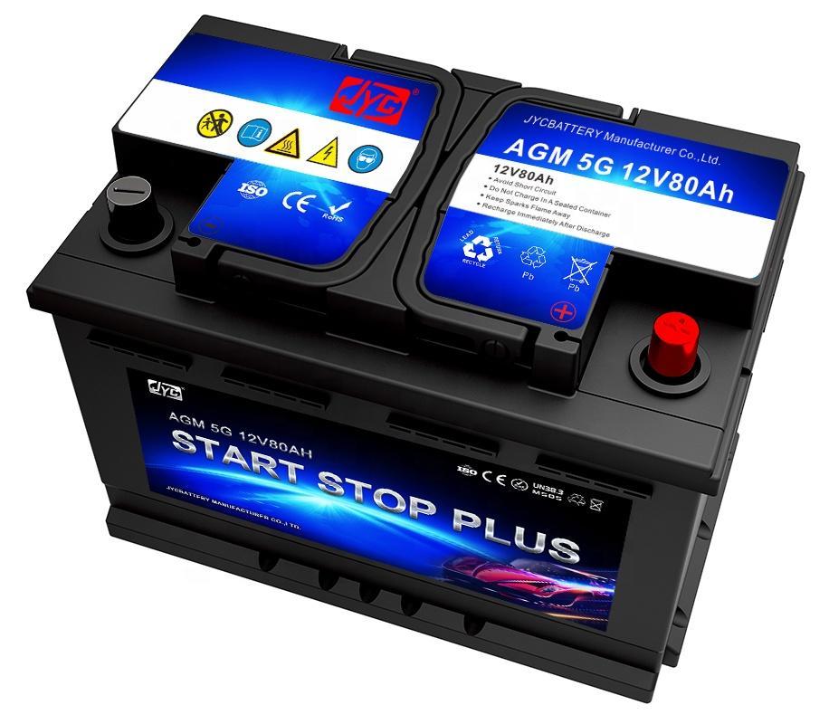 High quality deep Cycle car 12v 80ah AGM Start-Stop Battery