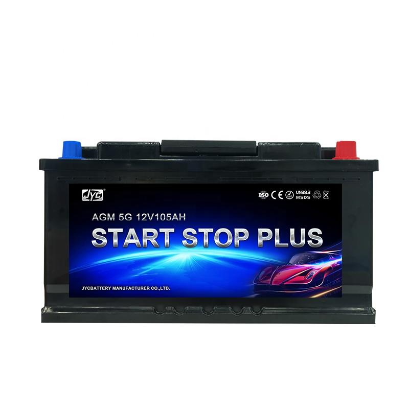 High Quality Rechargeable 12V 105Ah Auto AGM Start Stop Car Battery for engine start stop