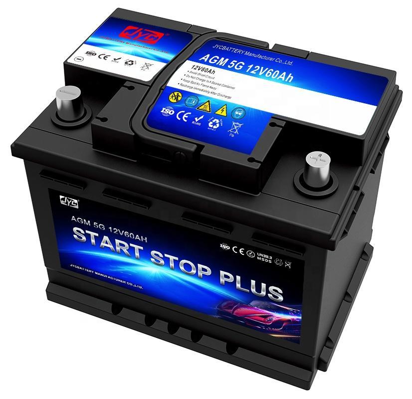 High Quality 12V 60Ah Start Stop Car Battery Deep Cycle AGM LEAD ACID CAR BATTERY