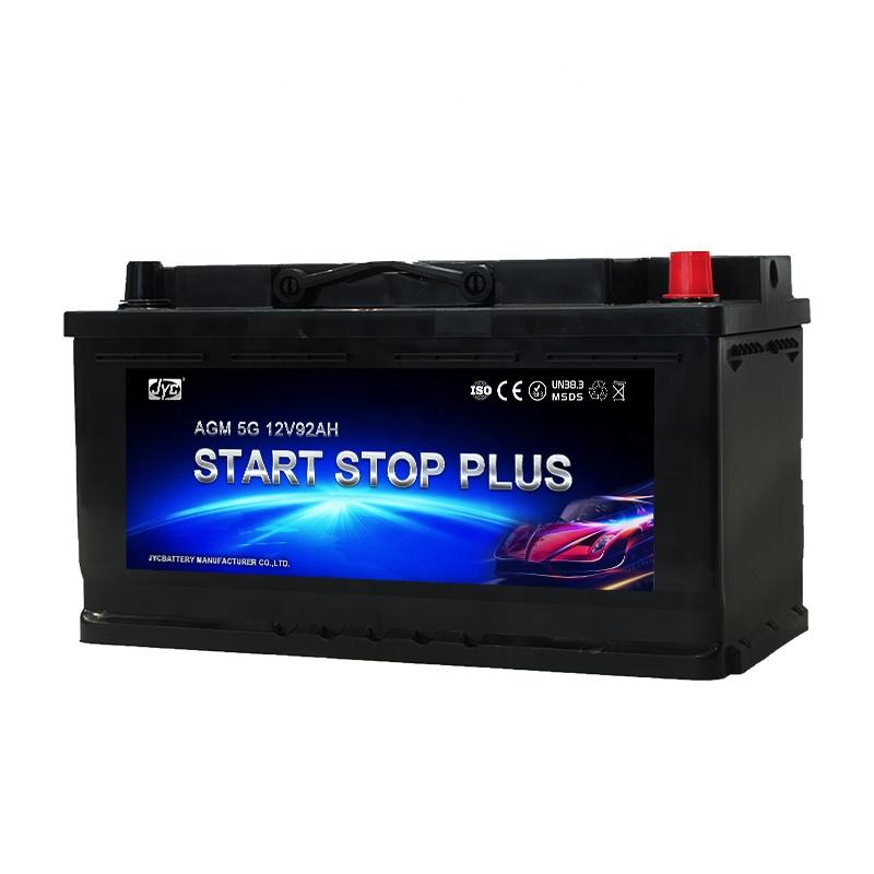 2021 hot Maintenance Free 12v 92ah AGM car Start-Stop battery