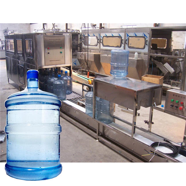 Automatic bottle washing filling capping equipment for mineral water plant