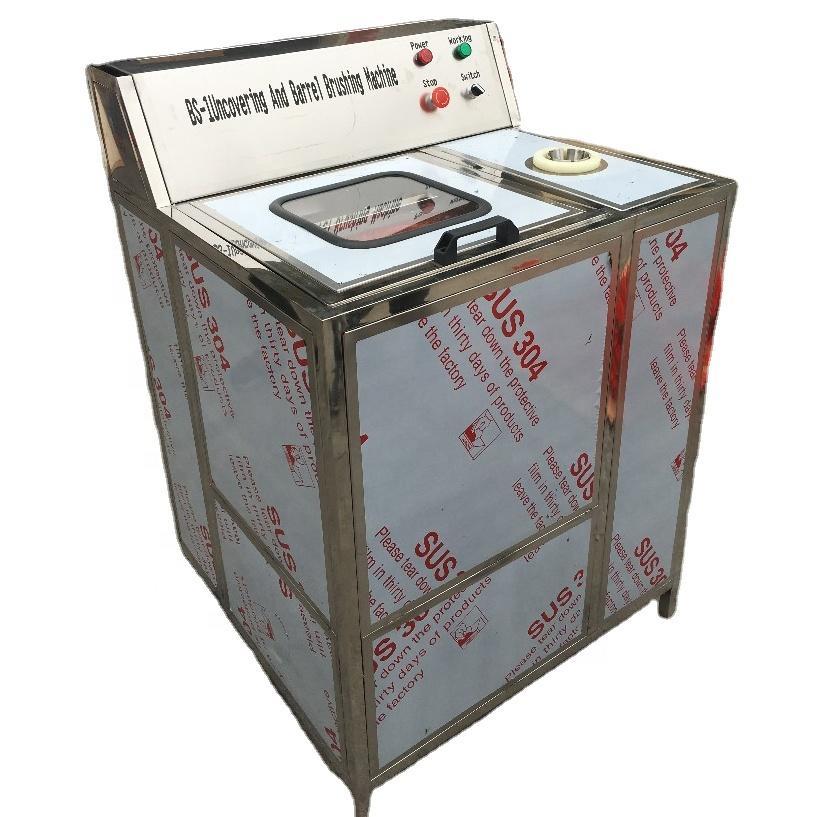 Semi-auto 5 Gallon Bottle washing machine with inside and outside brushes