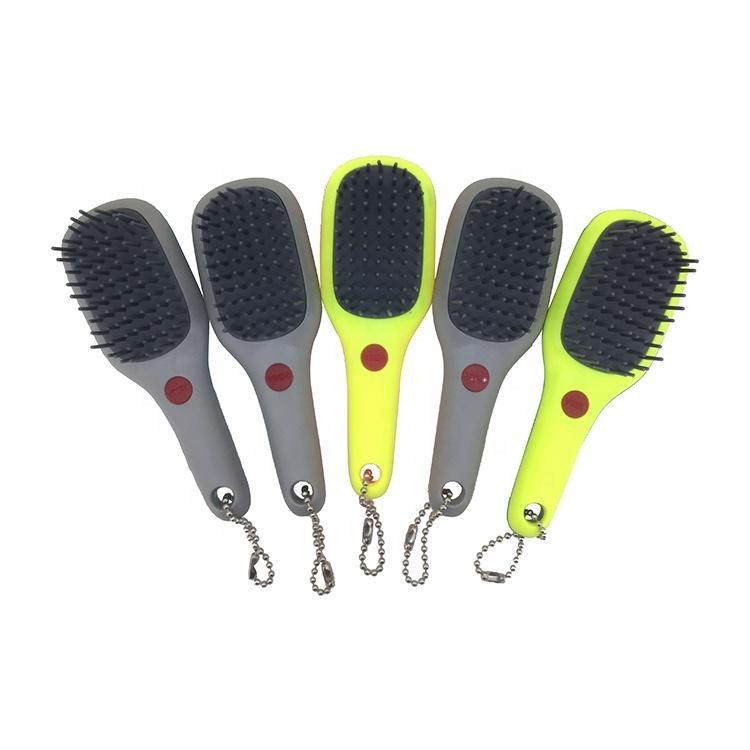 Hot Sale Rubber Handle Plastic Cushion Detangling Wet Detangler Paddle Hair Brush