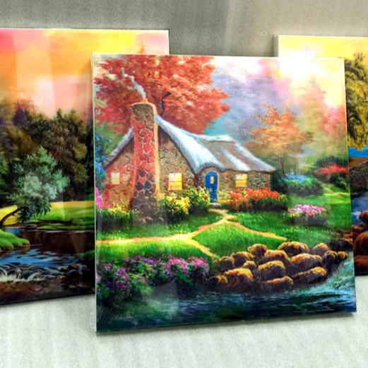 WANBAN|LSU-10 Factory supply PET lenticular sheet 75/90/100 LPI Use for Home Decoration