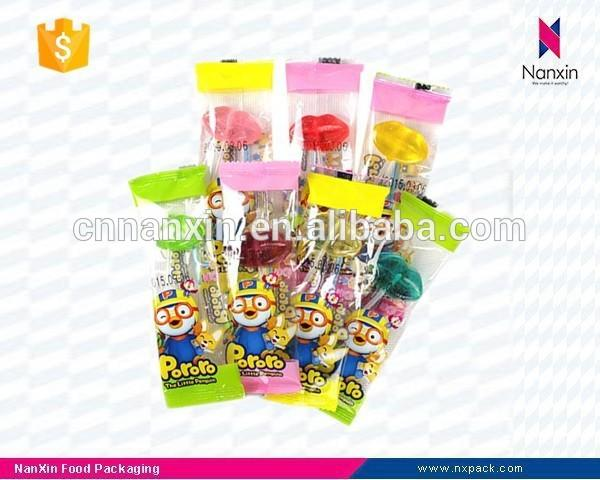 customized transparent candy lollipop packaging sachet