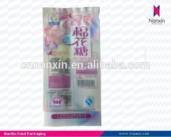 plastic packaging bag for cotton candy