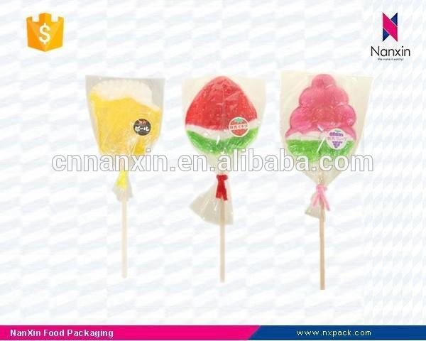 customized transparent lollipop candy packaging bag