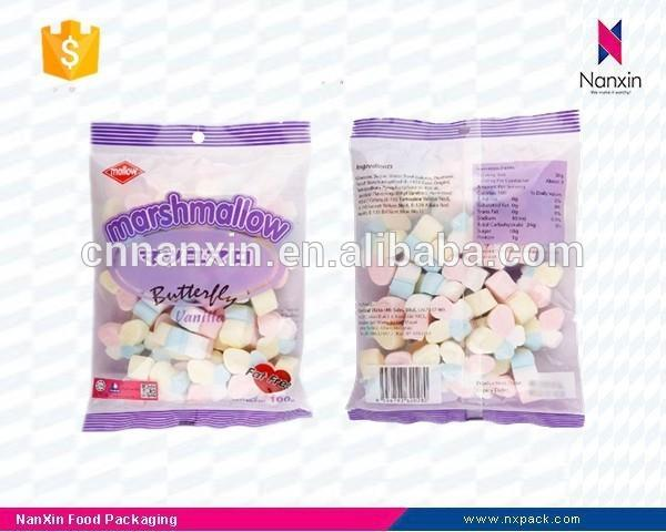 plastic candy packaging bag for marshmallow