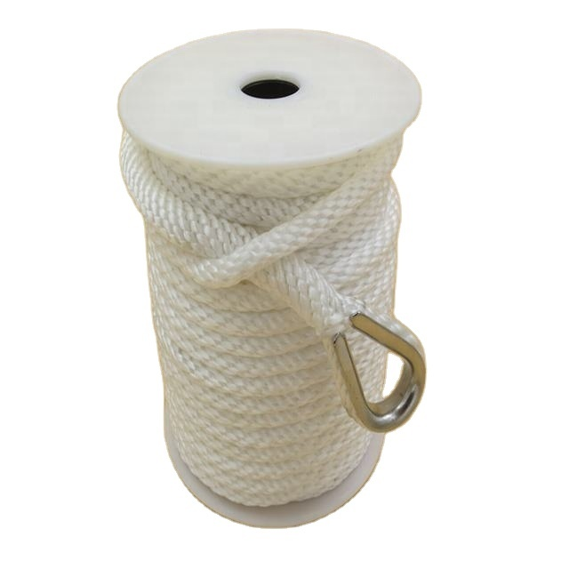 Solid braided rope our the best selling product is 3/8''*100' solid braided anchor rope for mooring in kayak accessory
