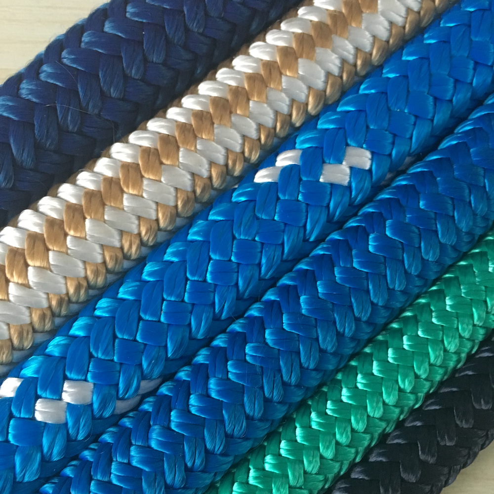Wholesale Top quality customized package and size double braided nylon/polyester marine ropeanchor line