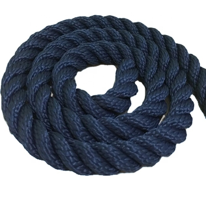 High performance customized package and size nylon/ polyester 3 strandtwisted mooring rope