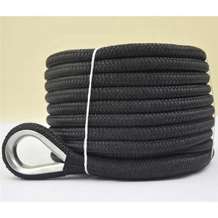 Hot sale Top quality customized package and size double braided nylon/polyester marine ropeanchor line