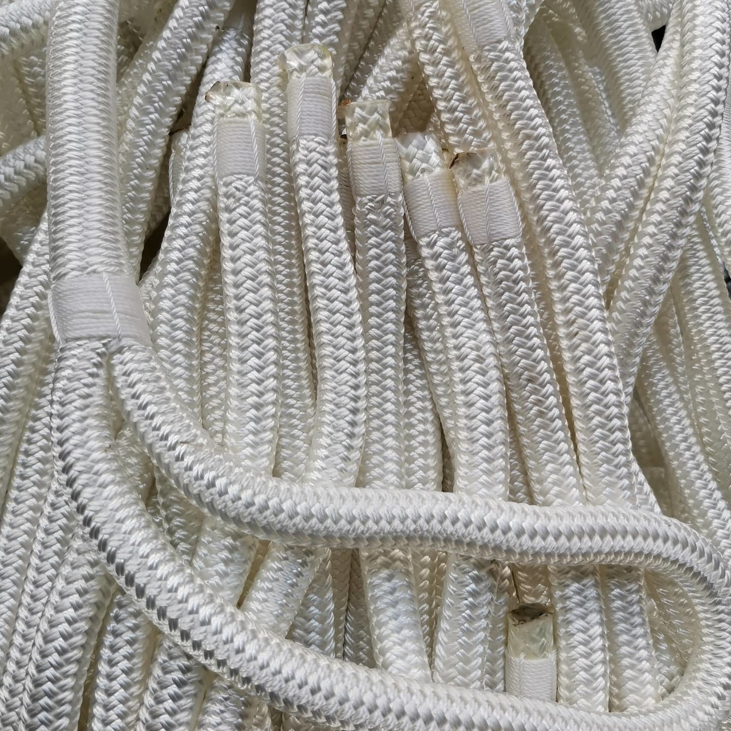 easy to handle best selling black colordouble braided nylon dock lines