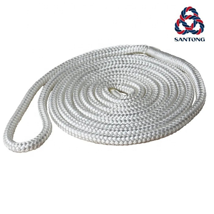 China supplier nylon double braid mooring boat yacht dock rope