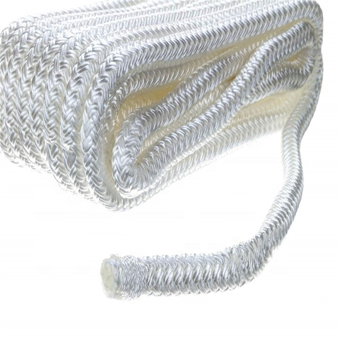 large diameter best selling navy colordouble braided nylon dock lines have no MOQ diameter from 20-50mm for boat ship