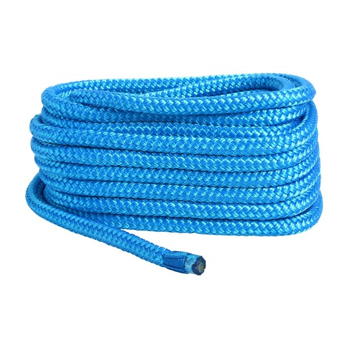 5mm-25mm double braid nylon dock line mooring rope for boat yacht