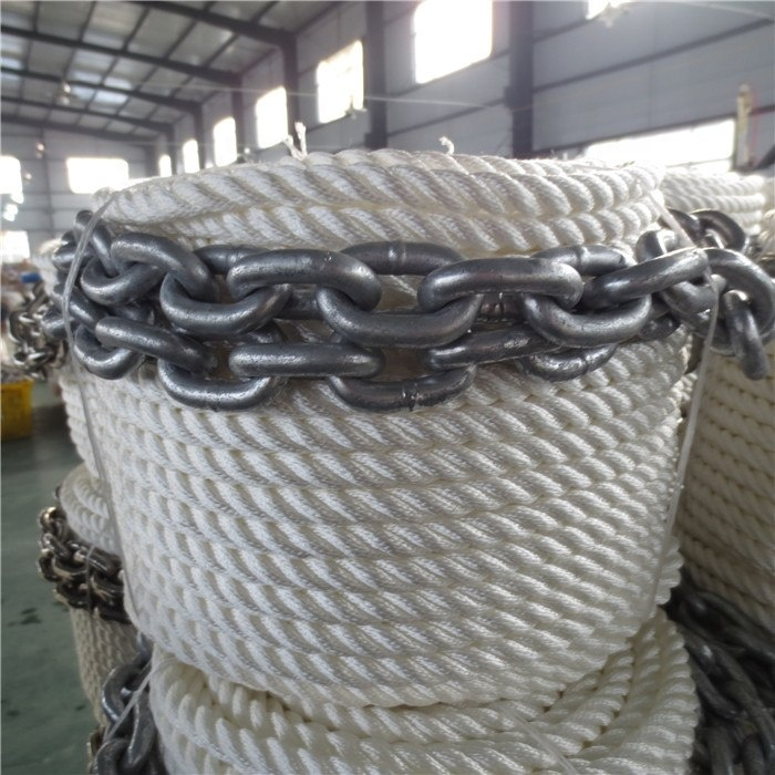 Highquality customized package and sizenylontwisted/ braided mooring marine chain ropeanchor kit