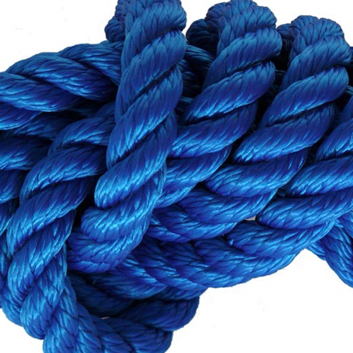 High performance customized package and size nylon/ polyester 3 strand twisted dock line rope for sailboat, yacht marine rope