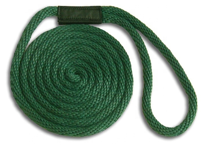High quality customized package and size solidbraided nylon/ polypropylene marine rope dock line for sailboat,yacht, etc
