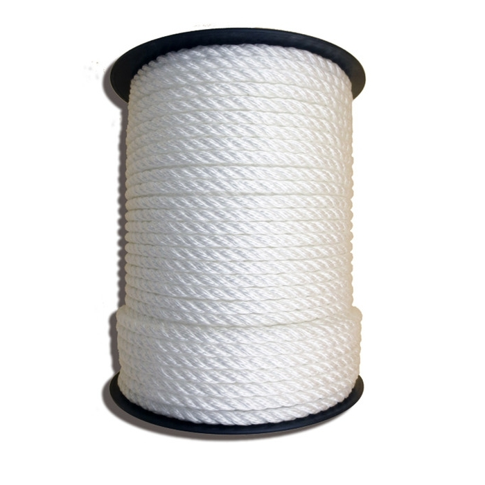 floating whitecolor three strand polypropylene marine rope making in dock anchor fender rope to fit perfectly rowing boats