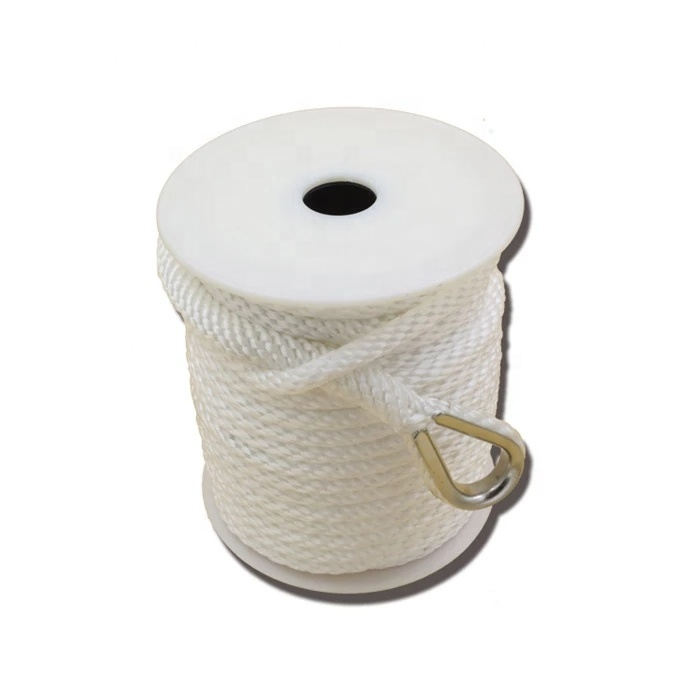 best selling product 3/8 inch 100ft Solid braided ropeanchor rope polypropylene material