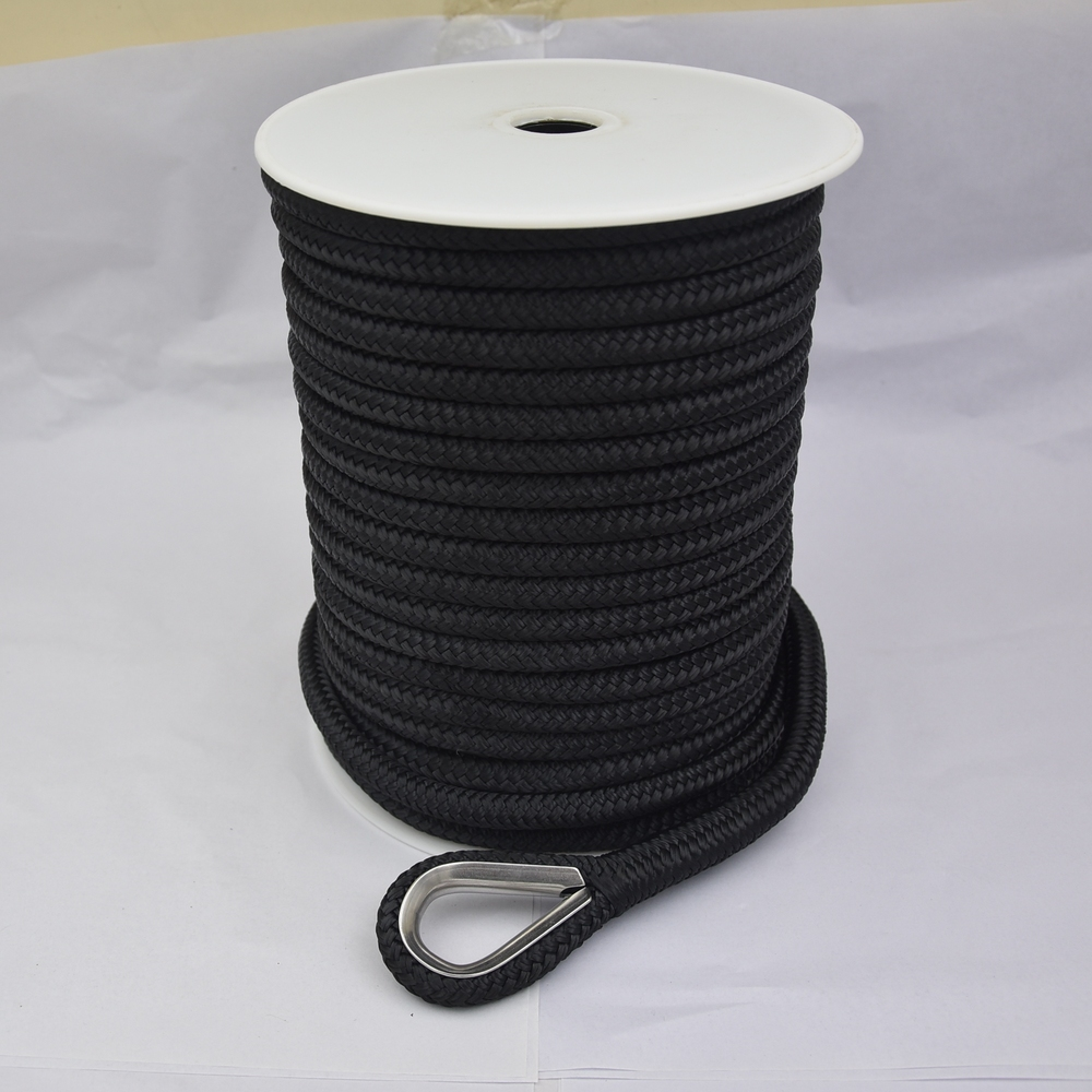 Wholesale Hot performance customized package and size double braided nylon/polyester marine ropeanchor line mooring rope