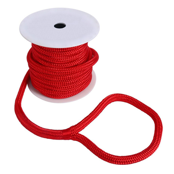 anchor line 10mm diameter double braid red color anchor rope for mooring in kayak accessory