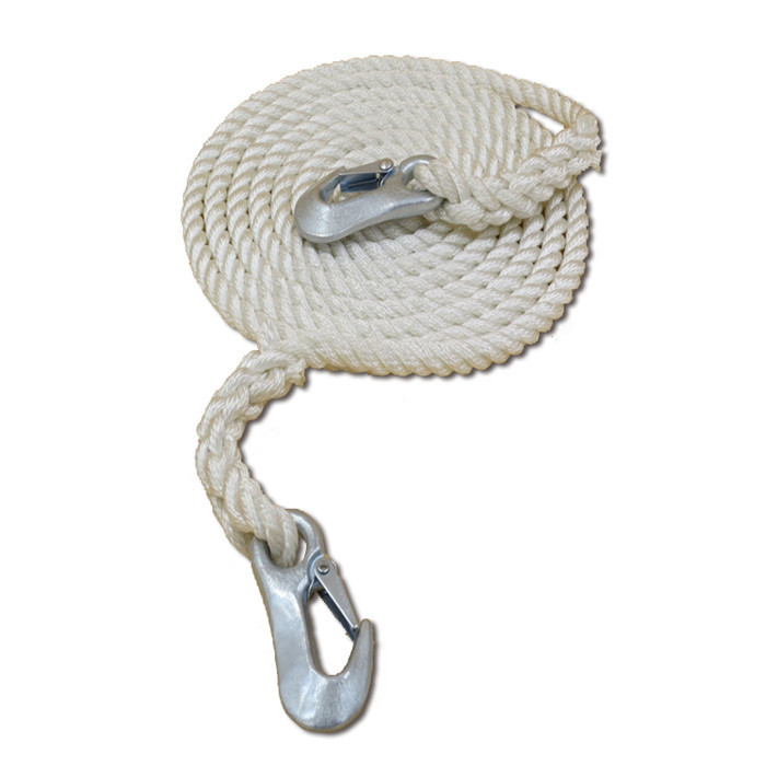 hot double braided and three strand dock rope anchor line fender line Nylon or polyester,polypropylene material