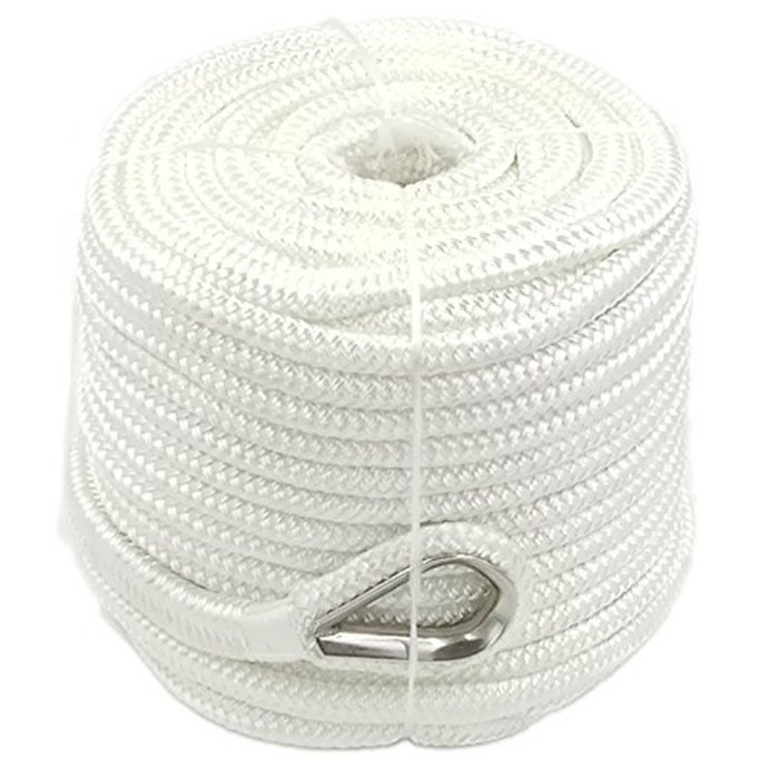 High performance customized package and size nylon/ polyester double braided anchor line rope for sailboat, yacht marine rope