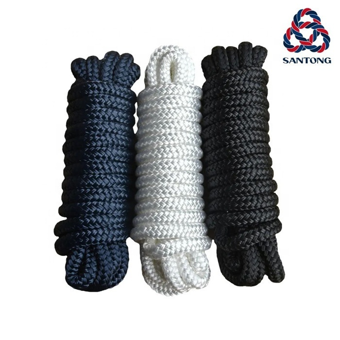 High qualitycustomized package and size polyester/ nylon double braided dock line marine rope for sailboat, yacht, etc