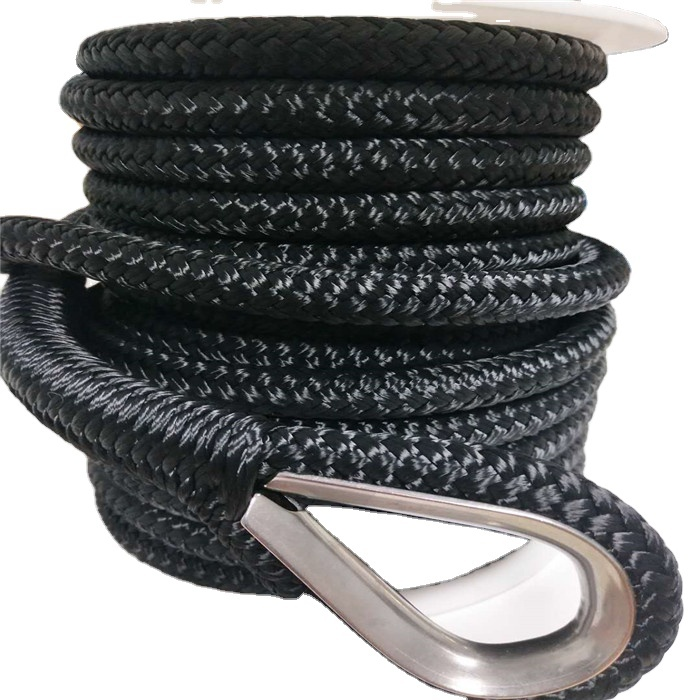 High qualitycustomized package and sizeDouble Braided & 3 strand twisteddock lineanchor line mooring rope