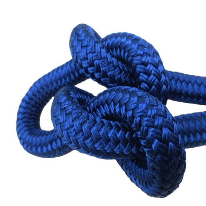 lead factory directly hot sale high quality16mm double braided of nylon dock lines with best breaking strength for yacht,kayak