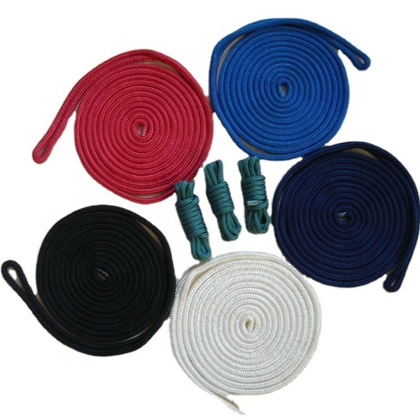 16mmmarine rope double braided of nylon dock lines with best breaking strength for yacht,kayak