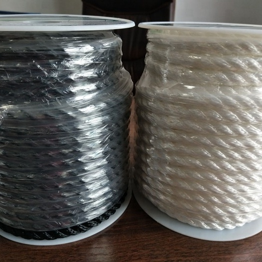 High performance customized package and size3 strand twisted nylon/ polyester anchor line with SS thimble