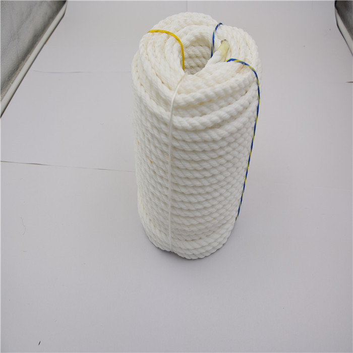best selling 3 strand nylon rope dock rope nice lines fit perfectly rowing boats mooring rope white color in stock