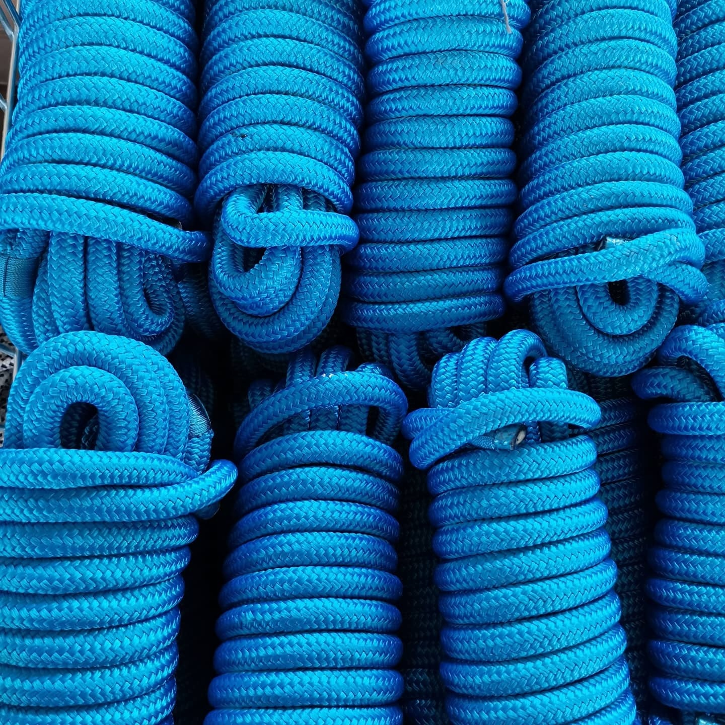 Hot performance Factory Price customized package and sizedouble braided polyester/ nylon mooring marine rope line 3/8 1/2