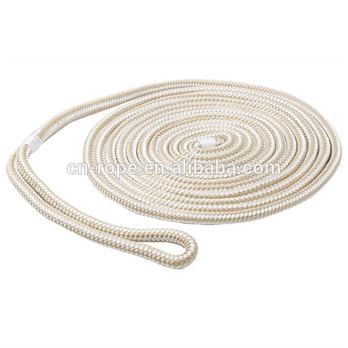 OEM hot sale high quality14mm double braided of nylon dock lines with best breaking strength for yacht,kayak