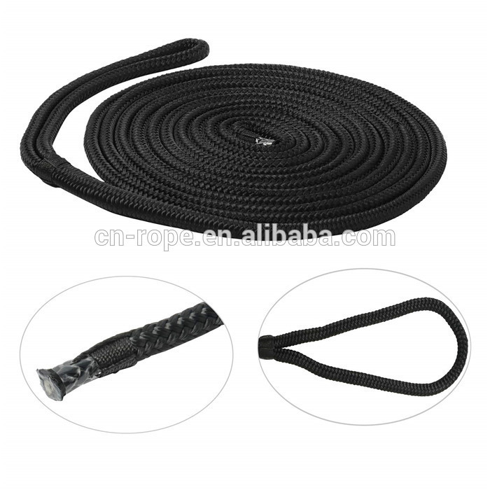 high quality to 50mmDock line dock line hot saledouble braided of nylon dock lines for marine accessories OEM