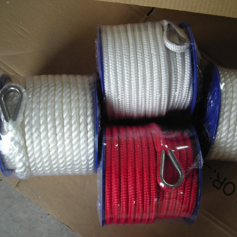 Top quality customized package and sizepolyester/ nylon/ pp3 strand twistedmarine rope for yacht, etc