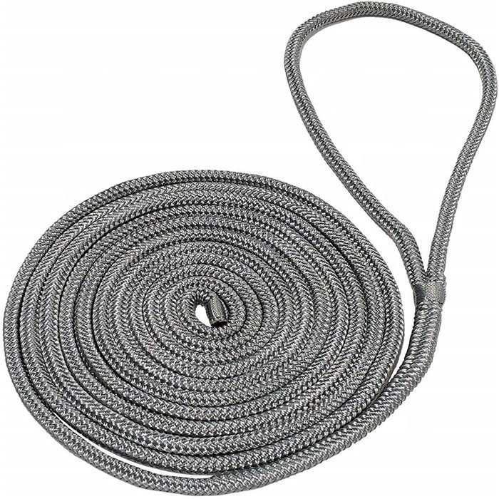 lead ropebig diameter best selling navy colordouble braided nylon dock lines have no MOQ diameter from 20-50mm for boat ship