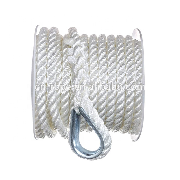 best selling productThe strongest double braided ,diamond braided,3 strand solid braid polyester,nylon, anchor rope mooring rope